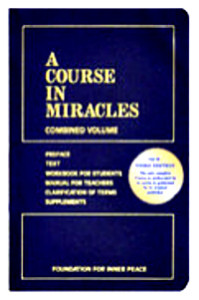 Image of A Course in Miracles text and workbook - with 2 classes offered at the Interfaith Center in Ann Arbor