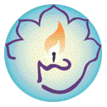 Interfaith Center for Personal Growth logo - lotus flower with flame