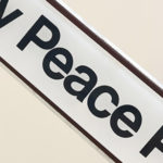 The word Peace from the Peace Pole at ICSG