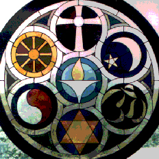 Stained glass image used with permission by artist Frank Houtkamp and the Unitarian Church in Rockford, Illinois.