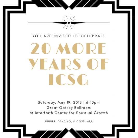 It'll be a roaring time with this 1920's themed 20th anniversary celebration.  Dinner to be served at 6PM with dancing and costume contest well into the evening.